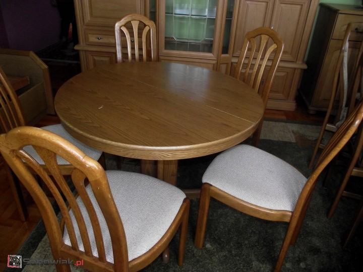 Sanowiakpl Sprzedam Stół Okrągły Rozkładany I 5 Krzeseł